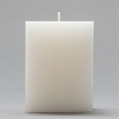 Square Candles 3x3x4 White Square Pillar Candle