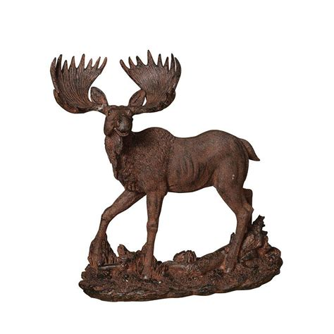 15 6 in h resin moose figurine 2220060 the home depot