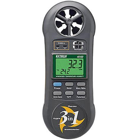 Termometer Udara alat ukur suhu dan kelembaban udara anemometer dan