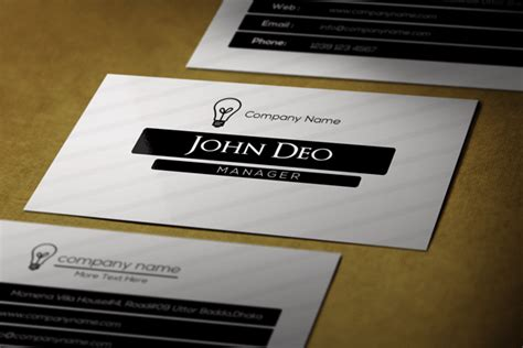 4 Side Free Psd Business Card Templates by Black And White Free Business Card Template Psd