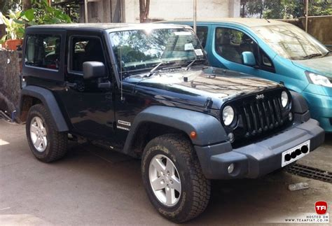 jeep wrangler 2 door modified 2 door jeep wrangler sport spotted in india launch soon