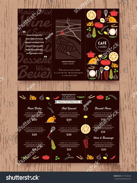 sle restaurant brochure restaurant menu design phlet vector template stock