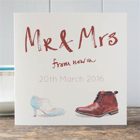 Wedding Card Congratulations by Wedding Congratulations Card Mr And Mrs Personalised By