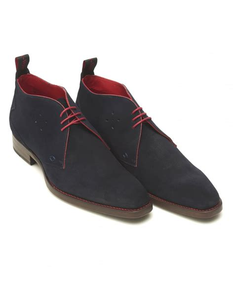 jeffery west mens masuka navy blue suede chukka boots