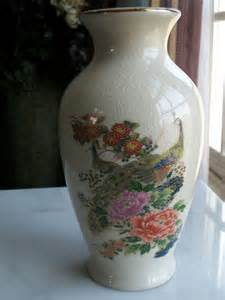 vintage peacock vase national silver company nagoya japan
