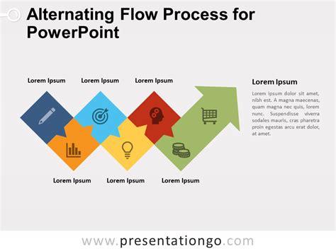 Alternating Flow Process For Powerpoint Presentationgo Com