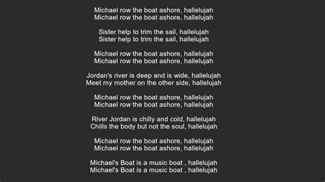 michael row the boat ashore translation michael row the boat ashore lyrics youtube