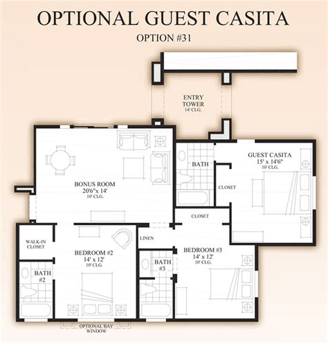 casita floor plan optional guest casita floor plan