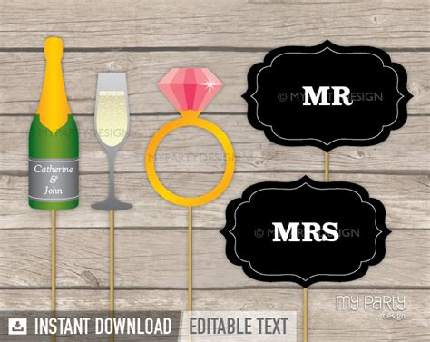 printable photo booth props engagement 8 best images of wedding photo booth props printable