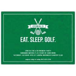 eat sleep golf retirement invitations paperstyle