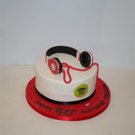 Headphones themed cake