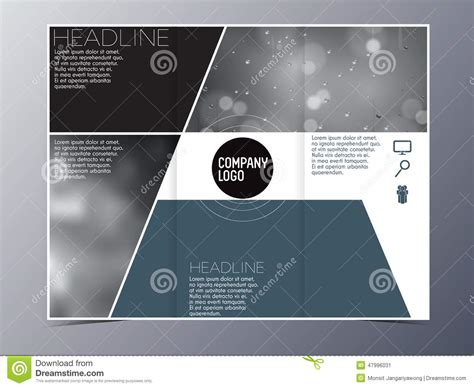 modern brochure design templates blue green modern brochure design template vector tri fold