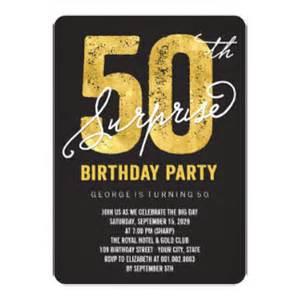 surprise 50th birthday invitations amp announcements zazzle