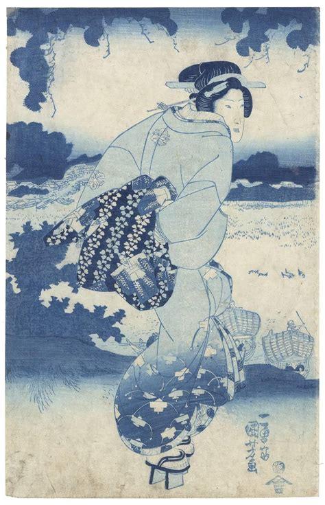 libro japanese prints ukiyo e in utagawa kuniyoshi utagawa kuniyoshi ukiyo e beauty japanese woodblock print prussian blue