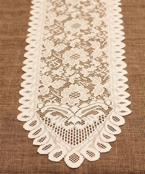 ivory lace table runner table lace runners burlapfabric com burlap for wedding