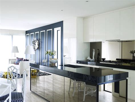 Mirrored Kitchen Cabinets by High Shine In The Kitchen Coco Kelley Coco Kelley
