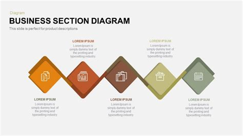 business section business section diagram powerpoint and keynote template