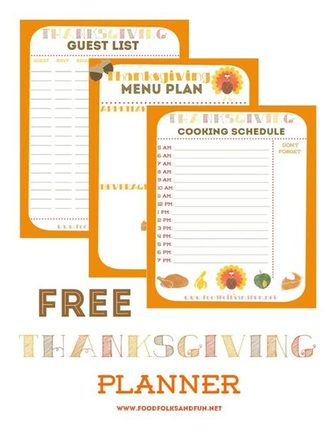 printable thanksgiving meal planner planners thanksgiving and thanksgiving menu on pinterest