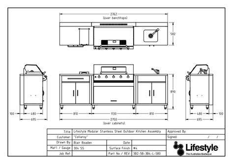 Typical Kitchen Island Dimensions bbq stainless steel bbqs outdoor kitchens built in