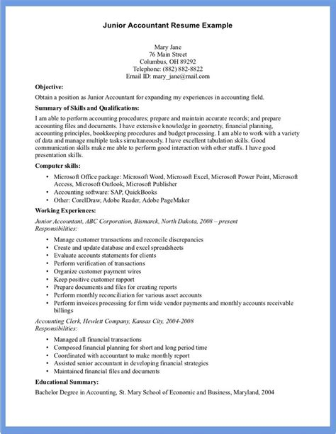 accounting resume sle word document templates