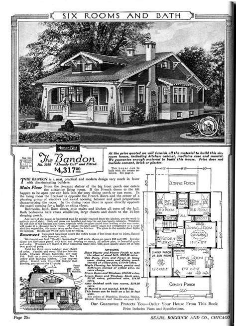 sears homes floor plans sears catalog home quot the bandon quot bungalows and cottages