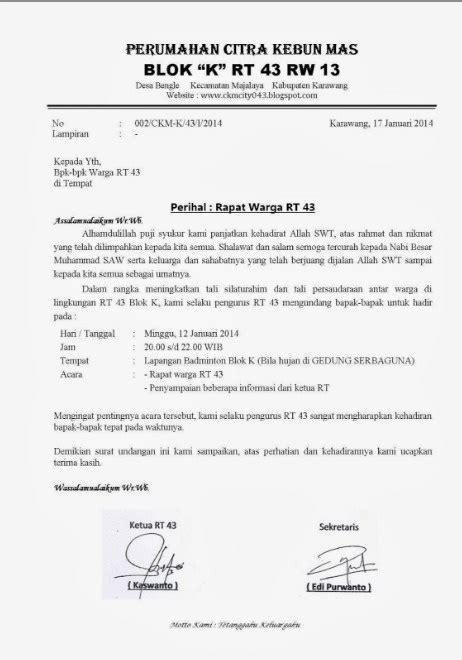 Contoh Berita Acara Rapat Organisasi by 19 Contoh Undangan Rapat Rt Terkini Desain Undanganku