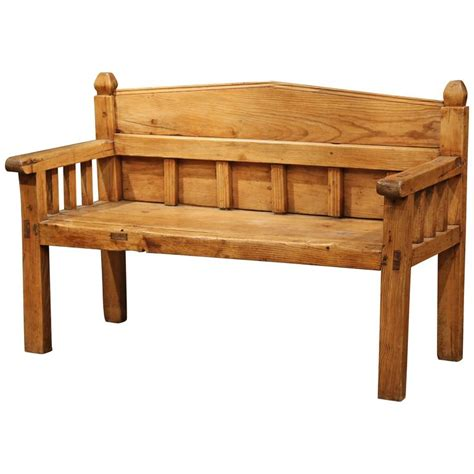 pine bench with back 19th century french country pine bench with back from the pyrenees for sale at 1stdibs