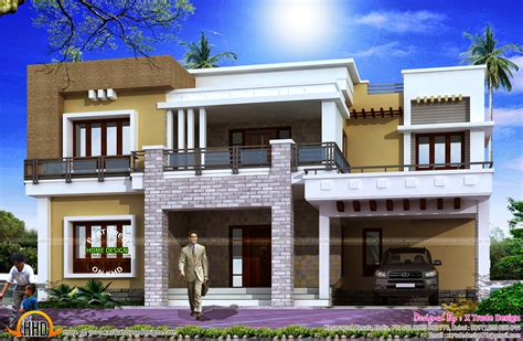 home design for views different views of 2800 sq ft modern home kerala home