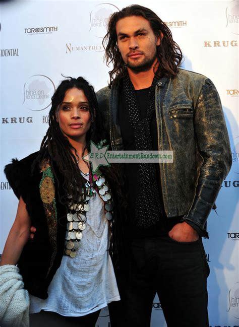 lisa bonet and husband jason momoa at premiere of lisa bonet entertainment rundown