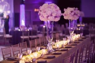 Purple wedding decorations for romantic look of wedding venue
