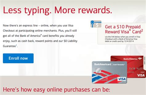 Bank Of America Visa Gift Card - free 10 for bank of america credit or debit card holders miles quest