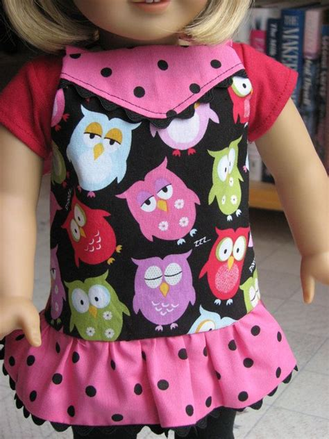 pattern for owl apron hoot of an apron for american girl 18 inch dolls print