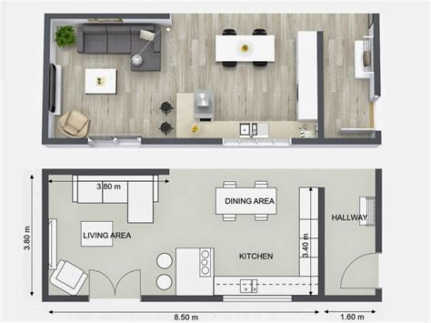 plan your kitchen design ideas with roomsketcher u shaped kitchen floor plans designcorner