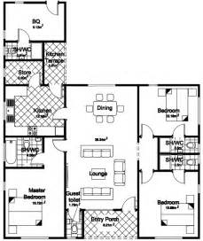Four Bedroom Floor Plan In Nigeria Home Nigeria Plan Bungalow Small House Plans Modern
