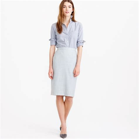 pencil skirt in 120s wool s suit skirts j crew
