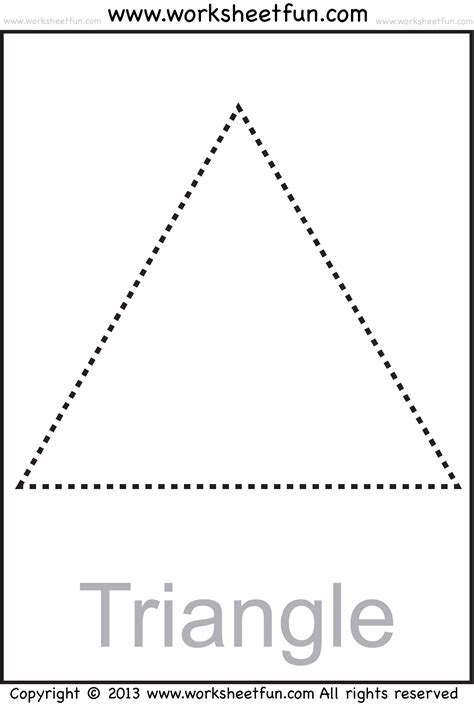 triangle printable worksheets for preschoolers triangle shape tracing worksheets