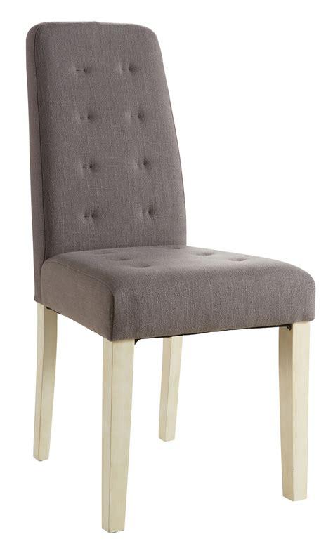 chaise tissu salle a manger chaise de salle 224 manger contemporaine en tissu taupe lot