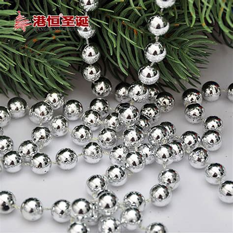beads decoration home christmas tree decorations 150 1cm gold silver light