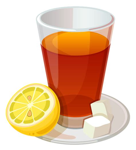 tea clip cup of tea and lemon png vector clipart picture drinks