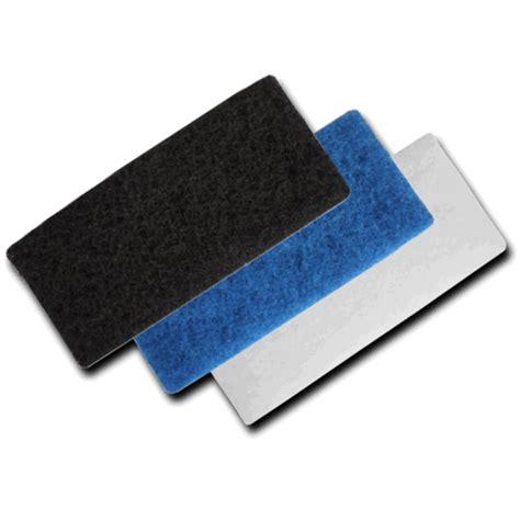 blue medium duty scourer floor scrubber pad