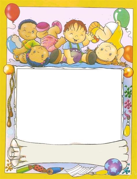 imagenes infantiles escolares a color rayito de colores marcos escolares infantiles