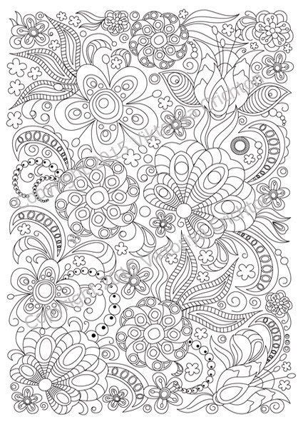 doodle pattern pdf adult coloring page doodle flowers zentangle inspired