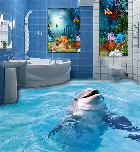 Dolphin Wallpaper For Bathroom by 2015 New Designs High Grade Micro 3d Toilet Floor