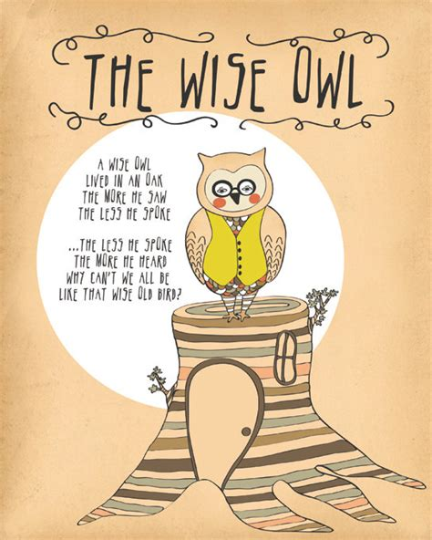 printable owl quotes owl print woodland decor owl quote print owl by