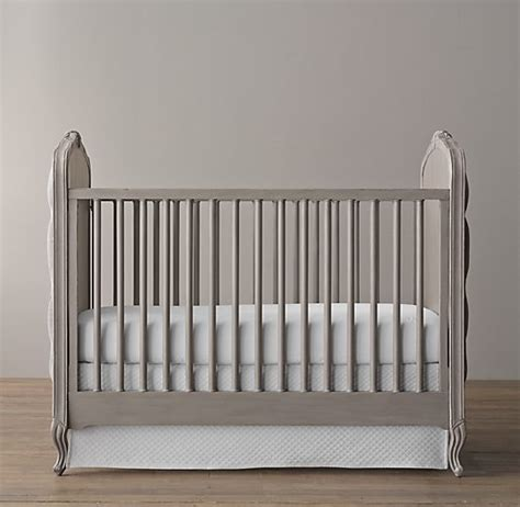 Colette Tufted Crib Pewter Grey Tufted Baby Crib