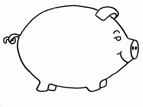 simple pig coloring page easy pig coloring pages