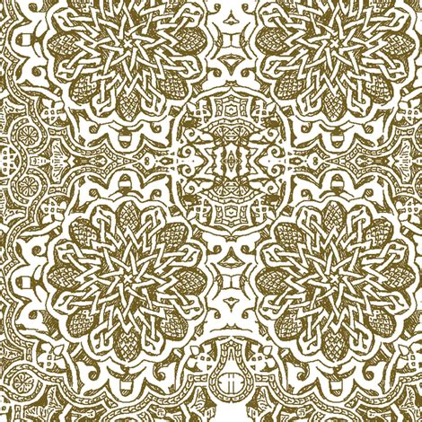 design essentials henna shoo moorish henna fabric bee lotus spoonflower
