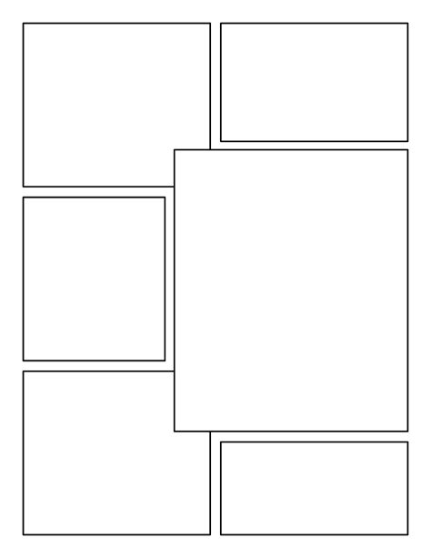 novel templates for pages blank comic book panels comic books pinterest comic