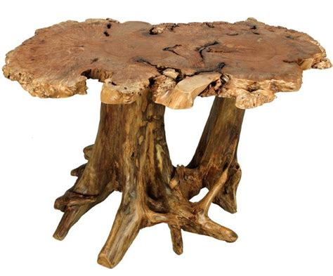 Driftwood Kitchen Cabinets amish rustic burl dining table with cedar stump base