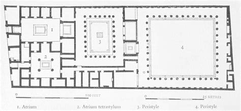 layout of the house of the faun faun house plan google search classic pinterest
